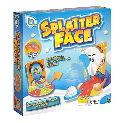 Splatter Face Pie Splatting Diversión familiar