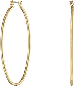 LAUREN Ralph Lauren Large Pear Hoop Earrings