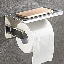 LF-JZJ Portarrollos de Papel higiénico Autoadhesivo con Soportes para teléfono, Soporte de Papel higiénico montado en la P...