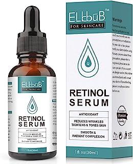 Retinol Serum – 25% retinol contenido Sistema con Vitamin C & Vegan ácido hialurónico – Reparación Piel Cicatriz Mancha...