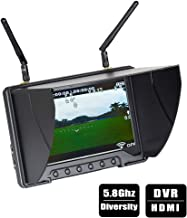 Flysight Black Pearl RC801 FPV Monitor with DVR 5.8Ghz 40CH 7