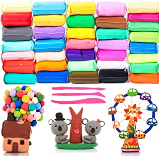 36 Colors Craft Kit Modeling Clay,Super Light DIY Clay,Magical Kids Clay as a Present for Kids,Manual Training,Educational...