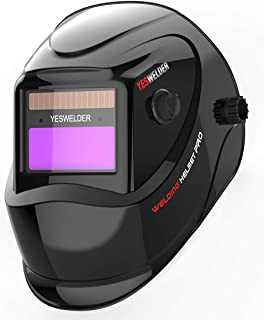 YESWELDER True Color Solar Powered Auto Darkening Welding Helmet, Wide Shade 4/9-13 for TIG MIG ARC Weld Hood Helmet
