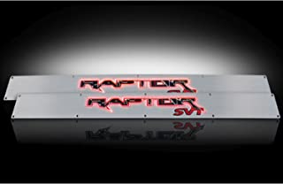2009-2014 Ford F-150 & SVT Raptor Brushed Aluminum Door Sill Step Plates w/ Red Illumination