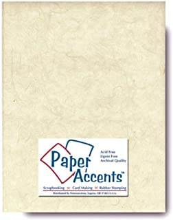 Accent Design Paper Accents Mulberry 8.5x11 25gsm Natural, 25 Piece