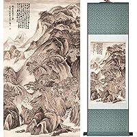 ホームオフィスの装飾中国の巻物の絵鳥の絵中国のウォッシュの絵印刷された絵