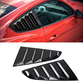 Car Window Louvers Side Window Blinds Vents Air Intake Panel for Ford Mustang 2015+ (Black)