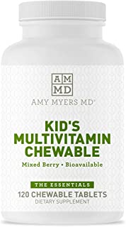 Dr. Amy Myers Multivitamin Chewable for Optimal Health - Activated B Vitamins, Zinc, Selenium, Iodine + More - 23 Vitamins...