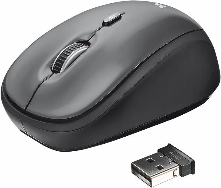 Trust yvi wireless mouse, grigio 18519