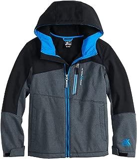 ZeroXposur Boys Warrior Softshell Full Zip Hooded Jacket - Lightweight Kids Hoodie Fleece Jacket