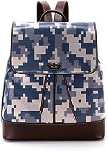 TIZORAX Camouflage PU Leder Rucksack Mode Schultertasche Rucksack Reisetasche für Frauen Mädchen