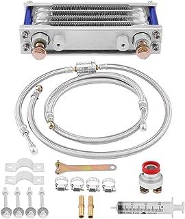 KIMISS Aluminio 65ml Enfriador de aceite, Kit de sistema de Radiador de enfriamiento de aceite