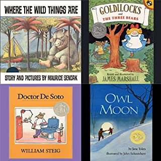 Where the Wild Things Are, Goldilocks and the Three Bears, Doctor De Soto, & Owl Moon cover art