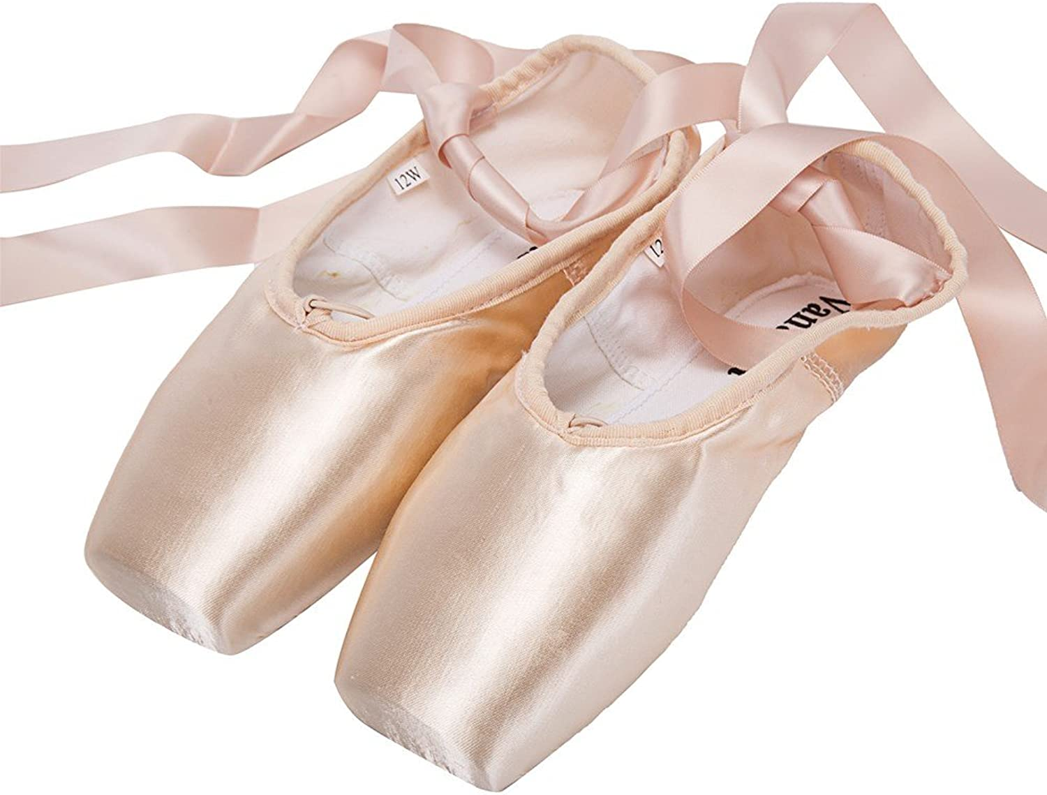 Wendy WENDYWU Womens Dance shoes Pink Satin Ballet Pointe shoes (9)