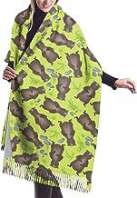 MISS-YAN Tamaño largo de la manera mantón grande Marmotas verde del modelo de las mujeres calientes del invierno de la bufanda del enrejado grande