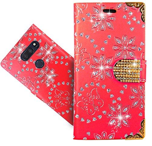 LG V35 ThinQ / V35+ ThinQ Handy Tasche, FoneExpert® Wallet Hülle Cover Bling Diamond Hüllen Etui Hülle Ledertasche Lederhülle Schutzhülle Für LG V35 ThinQ / V35+ ThinQ