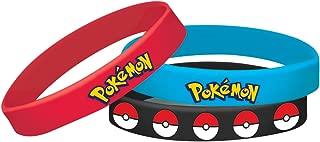 Amscan Pokemon Rubber Bracelets, Party Favor