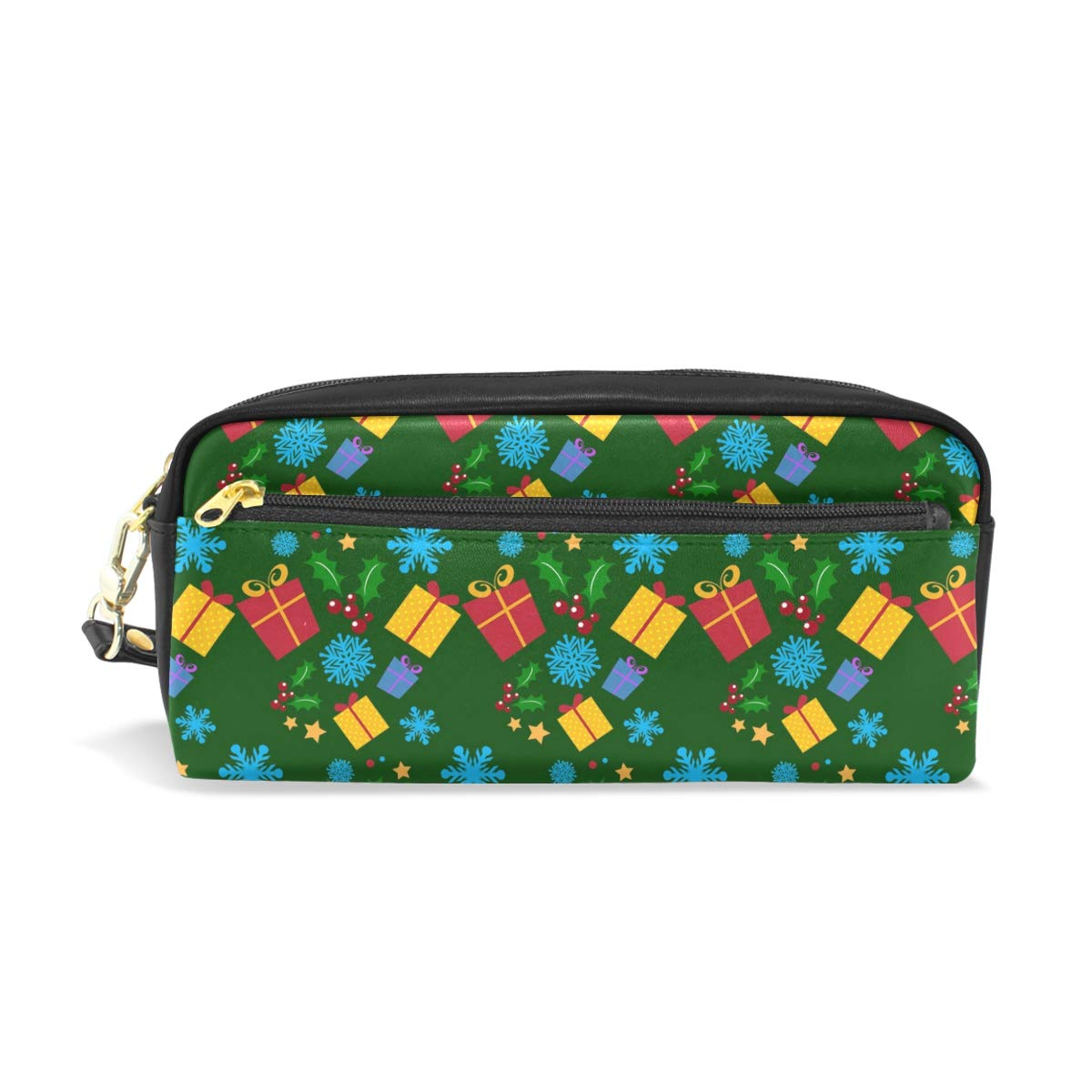 Cajas de regalo de Navidad de color verde oscuro, estuche escolar para lápices de niños, bolsa de gran capacidad para maquillaje, cosméticos, oficina, bolsa de viaje: Amazon.es: Oficina y papelería