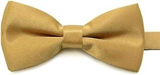 Children Kids Boys Toddler Infant Solid Bowtie Pre Tied Wedding Bow Tie Necktie,Champagne
