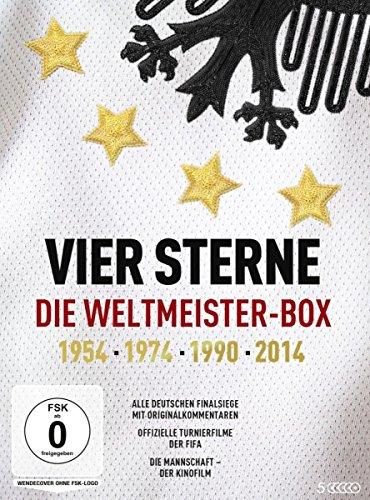 Vier Sterne - Die Weltmeister-Box - 1954 1974 1990 2014 / Alle deutschen Finalsiege mit Originalkommentaren von ARD und ZDF + Die offiziellen Turnierfilme der FIFA + Die Mannschaft (5 DVDs)