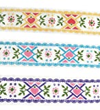 Ripsband mit Herz-Motiv, ca. 3,8 cm, Baumwolle/Viskose, zum Nähen, Geschenkverpacken, Haarschleife, Basteln, Hochzeitsdekoration, Baby-Dusch-Designer-Boutique-Bänder)