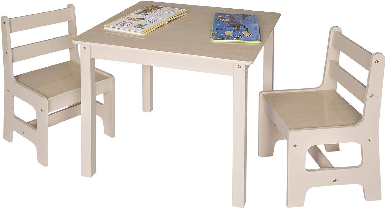 WOLTU 3tlg. Kindersitzgruppe Kindertisch mit 2 Stühle ...