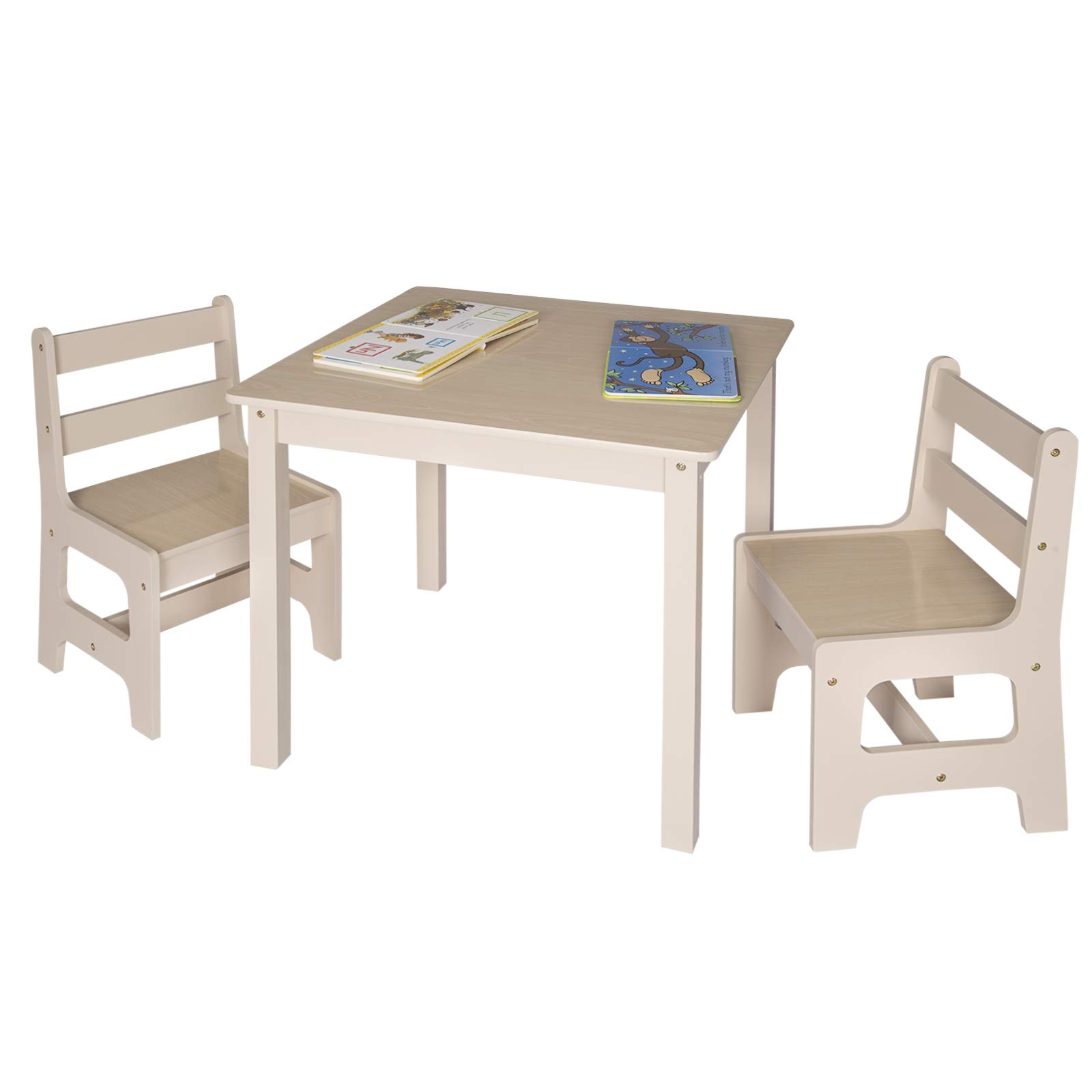 WOLTU 3 uds. Grupo de Asientos para Niños Mesa y 2 Sillas en Edad Preescolar Muebles para Niños SG001: Amazon.es: Hogar