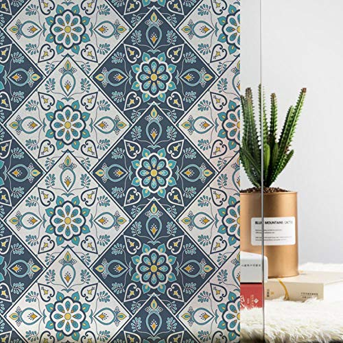 Glasfolie Raamsticker 45/60 / 90x200cm 17.7/23.6/35.4x78.7inch Home Decor raamdecoratie glas in lood Static Cling, 45x200cm