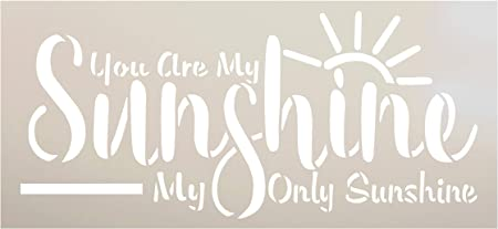 A4 Size 8.3x11.7 You are My Sunshine Reusable Stencil Template for Wood Signs Stencils for Painting on Wood Reusable DIY Home Decoration and Art Craft Drawing Sunflower Stencils 2pcs Set