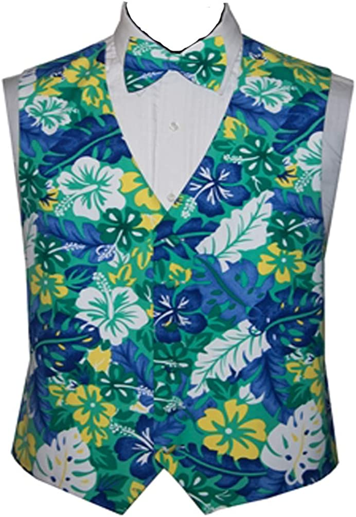Blue Island Fun Vest and Bow Tie