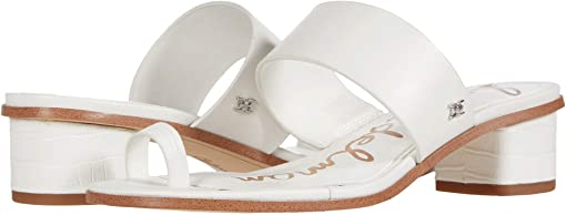 Bright White Kenya Large Croco Leather/Vaquero Saddle Leather