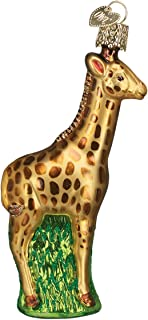Old World Christmas Zoo and Wildlife Animals Glass Blown Ornaments for Christmas Tree,Baby Giraffe