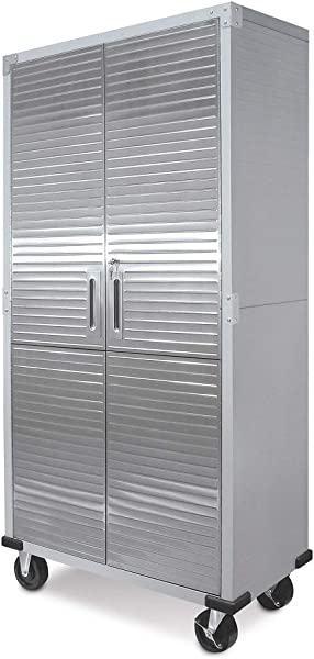 UltraHD Tall Storage Cabinet Stainless Steel 2 Pack