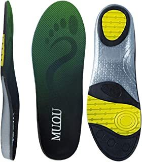 MUOU Sneakers Insoles Inserts Neutral Arch Support Sports Shoes Insole Performance Running Shoes for Women and Men