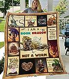 I Am A Book Dragon Not A Worm Blanket 30x40, 50x60, 60x80