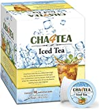 Cha4Tea 36-Count Unsweetened Black Iced Tea Pods for Keurig K-Cup Brewers