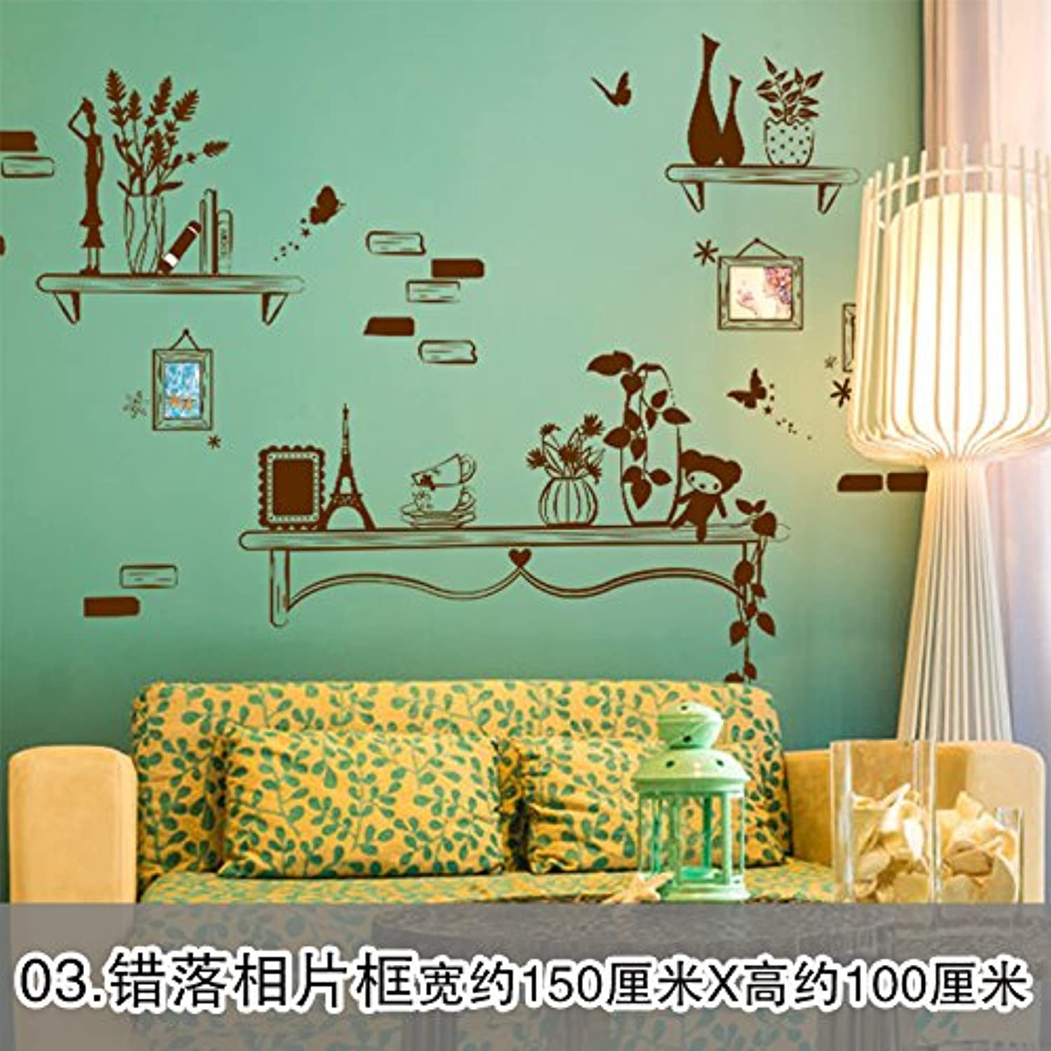 Znzbzt 3D Wall Decals Wallpaper self Adhesive Room Wall Posters Posters, Photo Frame