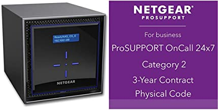NETGEAR ReadyNAS RN424 4 Bay Diskless High Performance NAS, 40TB Capacity Network Attached Storage, Intel 1.5GHz Dual Core Processor, 2GB RAM, (RN42400) with 3 years of ProSUPPORT