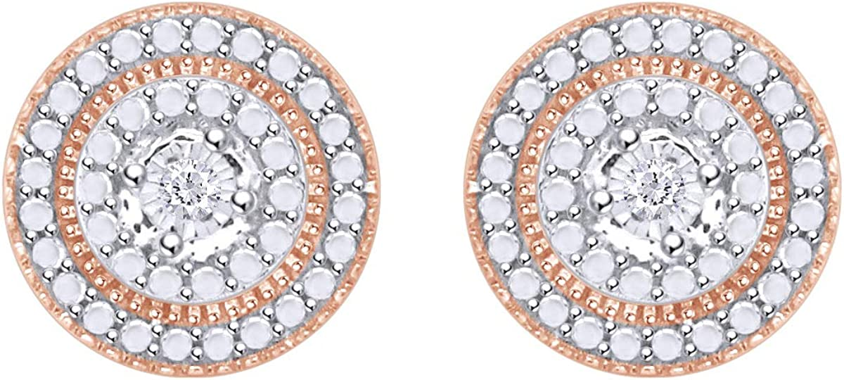 Samaira Jewelry Natural Max 87% 40% OFF Cheap Sale OFF Diamond Accent Round Earrings Stud 14 in