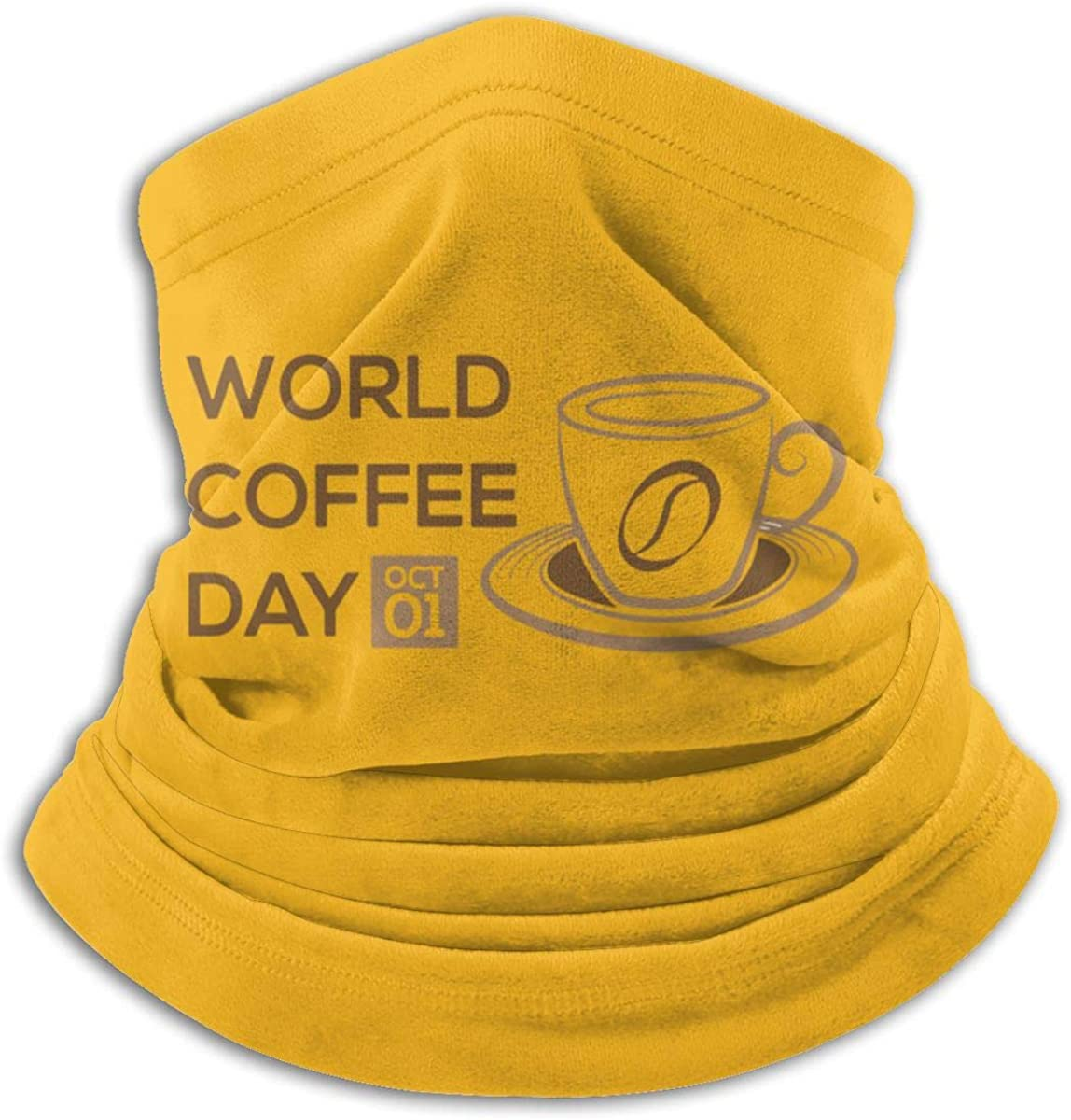 International Coffee Day Black Multi-function Neck Warmer Gaiter Polyester Neck Warmer Windproof Winter Neck Gaiter Cold Weather Scarf For Men Women