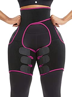 JOYMODE Neoprene Thigh Support Braces Lose Fat Reduce Cellulite High Compression Slimmers Exercise Wraps for Men and Women