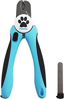 Lutema cortauñas para mascotas – Corta Uñas Pawsha profesional de acero inoxidable para perros y gatos, con lima de uñas –...