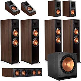Klipsch RP-8060FA 7.1.4 Dolby Atmos Home Theater System - Walnut