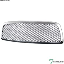 Topline Autopart Chrome Sport Mesh Front Hood Bumper Grill Grille Cover 1PC For 09-12 Dodge Ram 1500