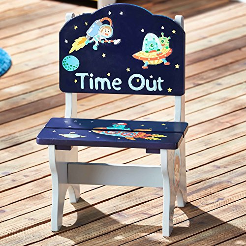 Fantasy Fields by Teamson Outer Space Childrens Wooden Naughty Time Out Chair Kids Seat TD-12222A