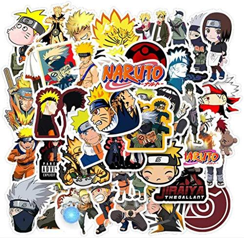 Paquete de 100 pegatinas de Naruto para ordenadores portátiles, botellas de agua, fundas de viaje, pared, monopatín, moto, teléfono, bicicleta, equipaje o guitarra - Adhesivos de anime para niños