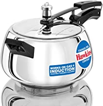 HAWKINS Hawkins Stainless Steel Contura Induction Compatible Pressure Cooker, 5 Litre, Silver (SSC50), Medium