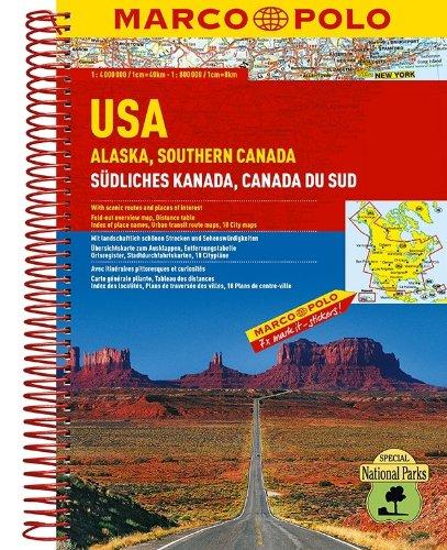 MARCO POLO Reiseatlas USA, Alaska, Südliches Kanada 1:2 Mio./1:4 Mio.: Kalifornien 1:800 000, Florida 1:800 000 (MARCO POLO Reiseatlanten)