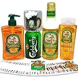 Originelles Geschenk für Männer Stammtisch mit Badeschaum sowie Duschgel plus Carlsberg Bier und...