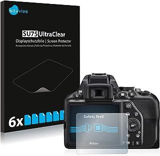 savvies Protector Pantalla Compatible con Nikon D3500 (6 Unidades) Pelicula Ultra Transparente